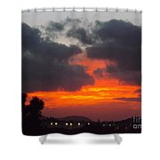 Flaming Sunrise Shower Curtain