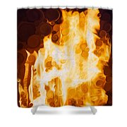 Flaming Waters Shower Curtain