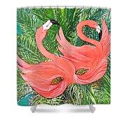 Flamingo Mask 1 Shower Curtain