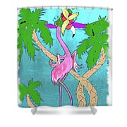 Flamingo Miranda Shower Curtain