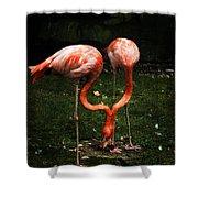 Flamingo Mirrored Shower Curtain