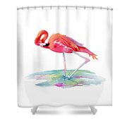Flamingo View Shower Curtain