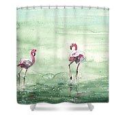 Flamingos In Camargue 02 Shower Curtain