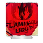 Flammable Liquid Shower Curtain