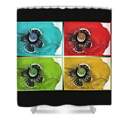 Flanders Poppy Pop Art Shower Curtain
