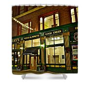 Flannerys Pub Shower Curtain by Frozen in Time Fine Art Photography