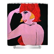 Flapper Girl In Orange C1929  Shower Curtain