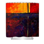 Flash Abstract Painting Shower Curtain