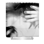 Flash Across My Soul - Self Portrait Shower Curtain