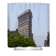 Flat Iron Building Shower Curtain by Bill Cannon