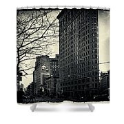 Flat Iron Building Fifth Avenue And Broadway Shower Curtain
