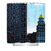 Flat Iron Nyc Shower Curtain by Sabine Jacobs