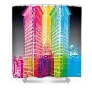 Flat Iron Pop Art Shower Curtain by Gary Grayson