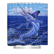Flat Line Off0077 Shower Curtain