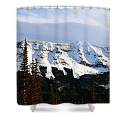Flat Top Mountain Shower Curtain