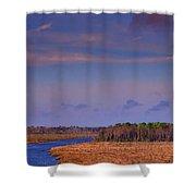 Flat Waterway Shower Curtain