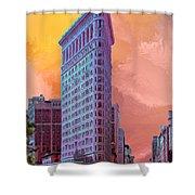 Flatiron Building At Sunset Shower Curtain