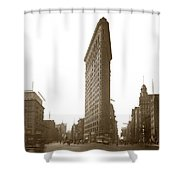 Flatiron Building New York City Circa 1904 Shower Curtain