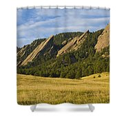 Flatiron Morning Light Boulder Colorado Shower Curtain