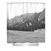 Flatirons Boulder Colorado Winter View Bw Shower Curtain