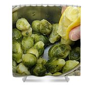 Flavoring Brussels Sprouts Shower Curtain