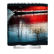 Red Boat Serenity Shower Curtain