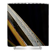 Flax Droplets Shower Curtain