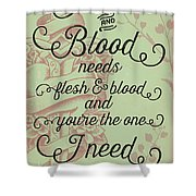 Flesh And Blood - Johnny Cash Lyric Shower Curtain