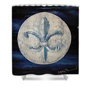 Fleur De Lies Moon Shower Curtain