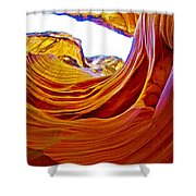Flexibility Rock In Lower Antelope Canyon Near Page-arizona  Shower Curtain