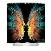 Flight Abstract Shower Curtain