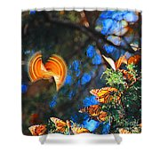 Flight Of A Monarch Shower Curtain