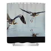 Propped Up Shower Curtain