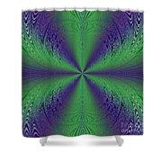 Flight Of Fancy Fractal In Green And Purple Shower Curtain