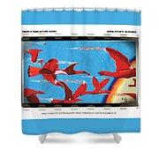 Flight Of Magical Gulls Anime Shower Curtain