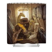 Flight Of The Bumblebee Shower Curtain