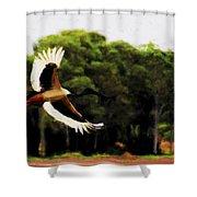 Flight Of The Jabiru V2 Shower Curtain