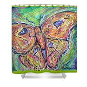 Flight Of The Moth Shower Curtain