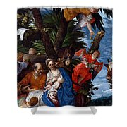 Flight To Egypt With Angels Shower Curtain