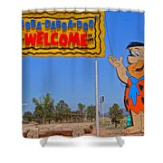 Flinstones Bedrock City In Arizona Shower Curtain