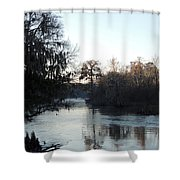 Flint River 23 Shower Curtain