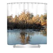 Flint River 27 Shower Curtain