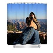 Flip Flop View Shower Curtain