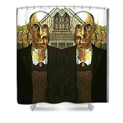 Flipped Gothic  Shower Curtain