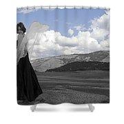 Flirty Fairy Black And White Shower Curtain