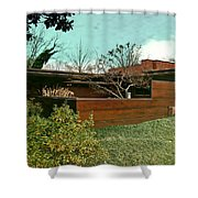 Fllw Rosenbaum Usonian House - 3 Shower Curtain
