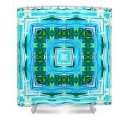 Float 1 Excerpt Design Shower Curtain