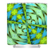 Float 4 Pattern Shower Curtain