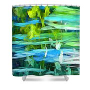Float 4 Vertical Shower Curtain