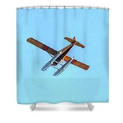 Float Plane Fly Over Pacific Northwest Shower Curtain